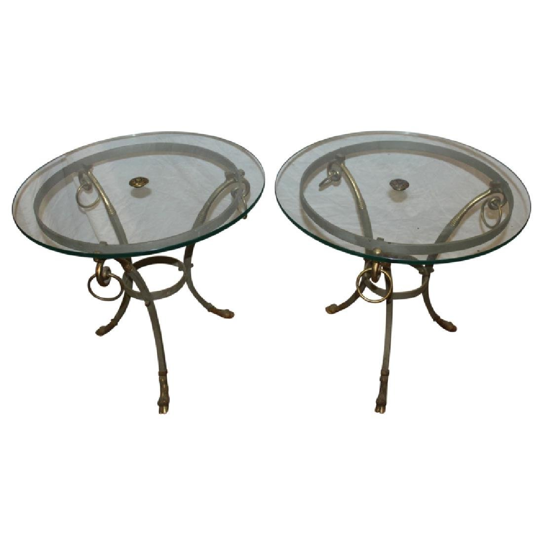Pair Gueridon End Tables