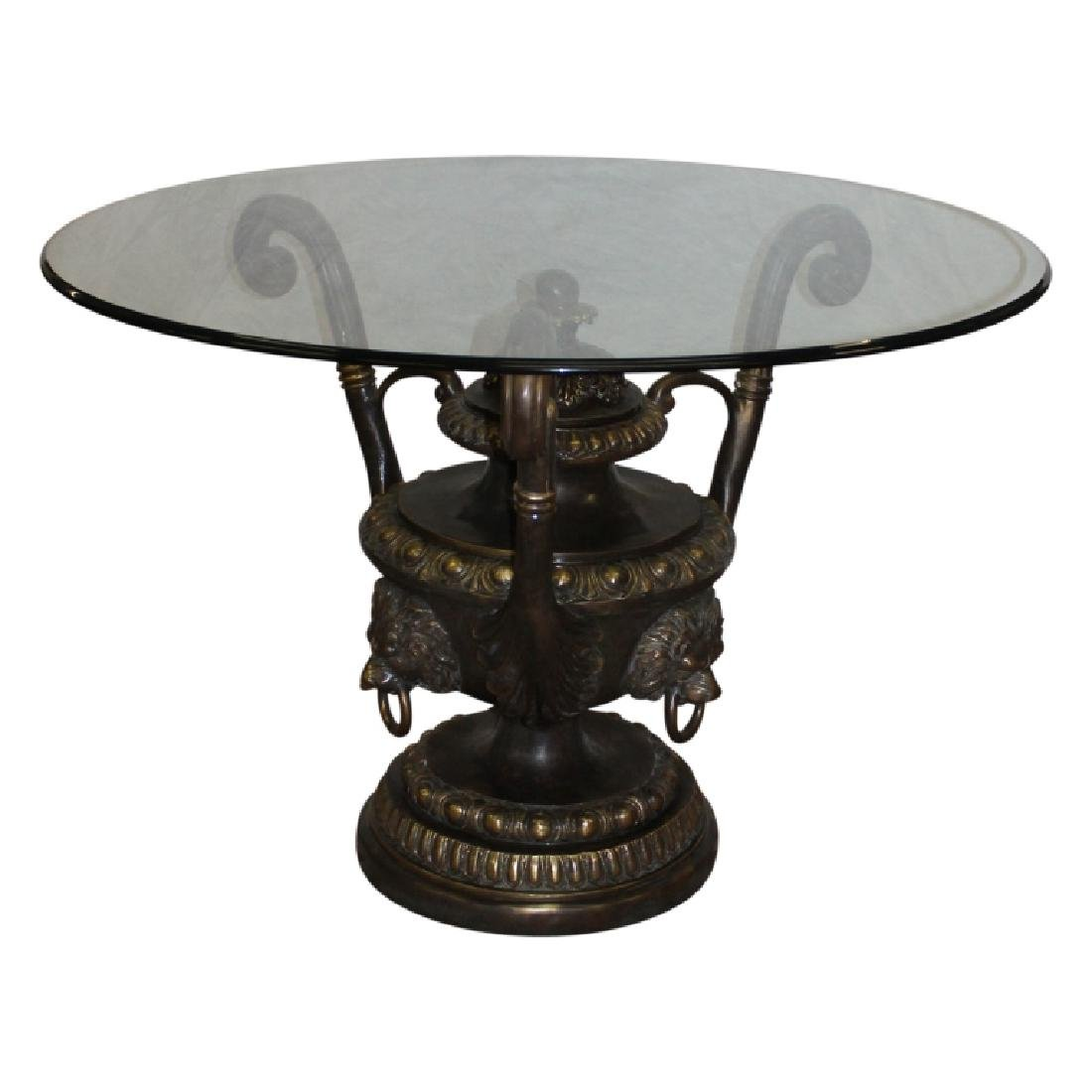 Glass Top Urn Style Base Center Table