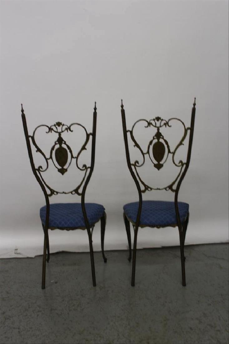 Pair of Neoclassical Brass Chairs - 3