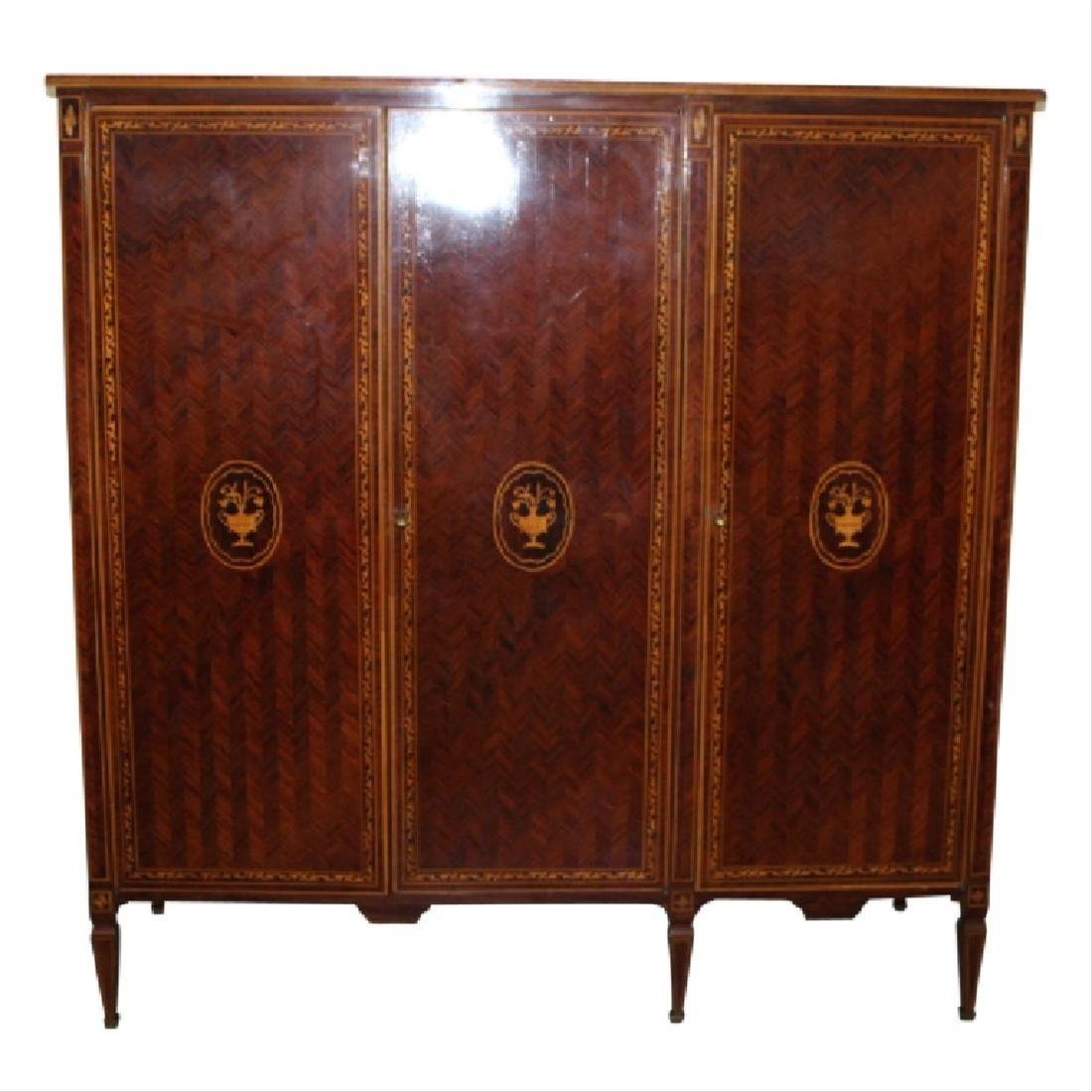 Inlaid Armoire w/ Keys