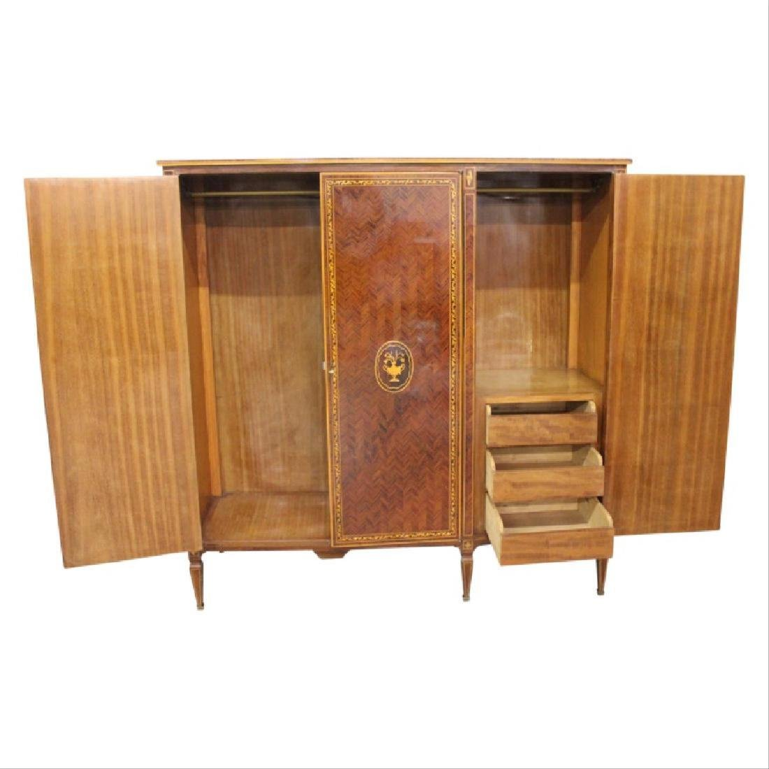 Inlaid Armoire w/ Keys - 2
