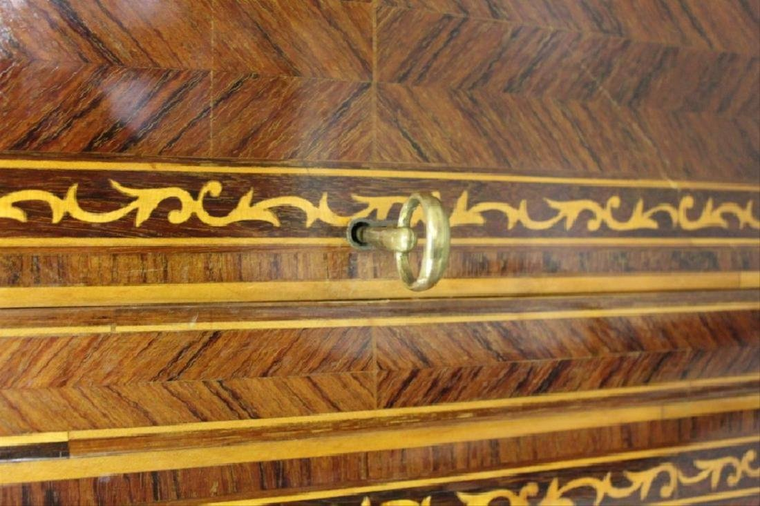 Inlaid Armoire w/ Keys - 3