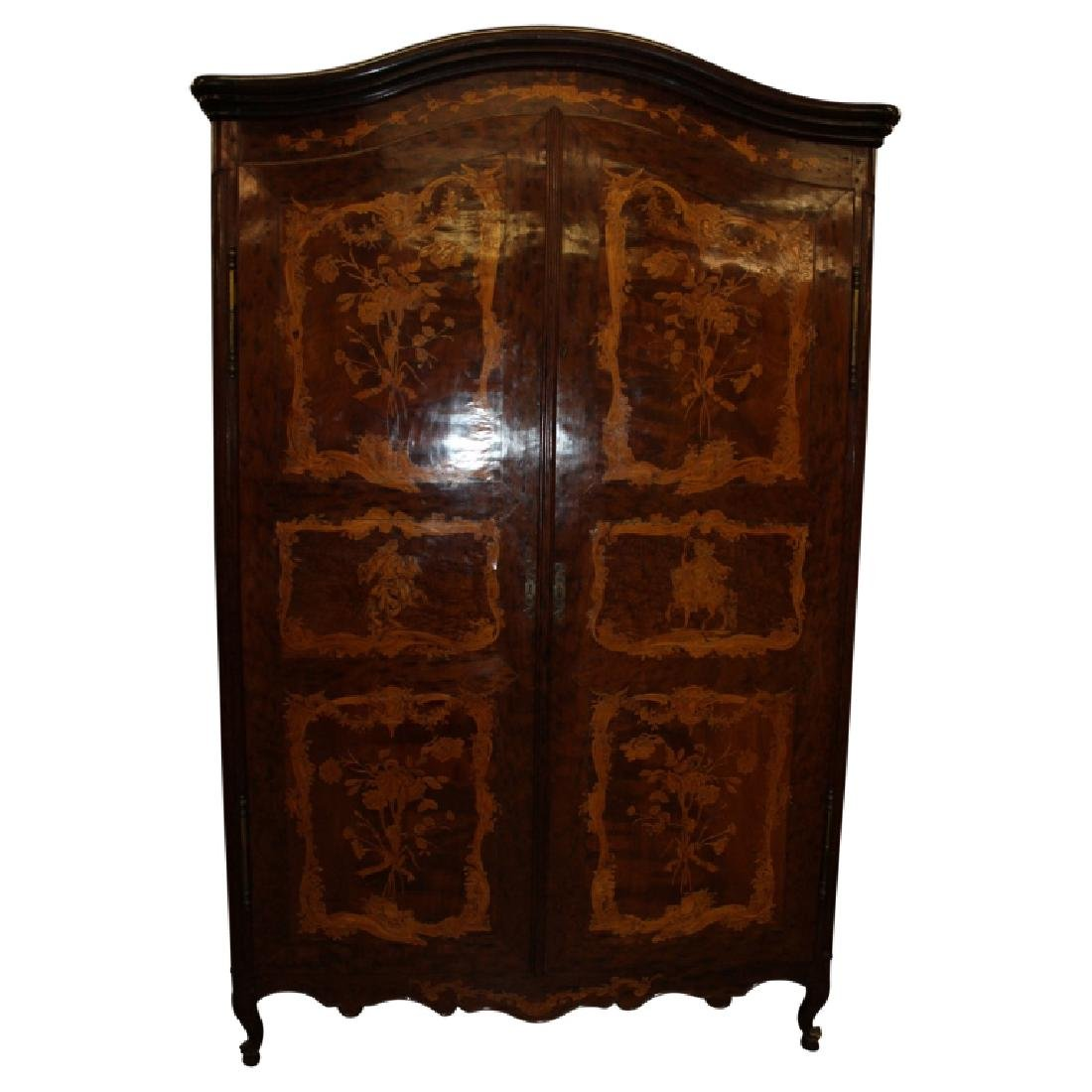 Large Ornately Inlaid Wardrobe