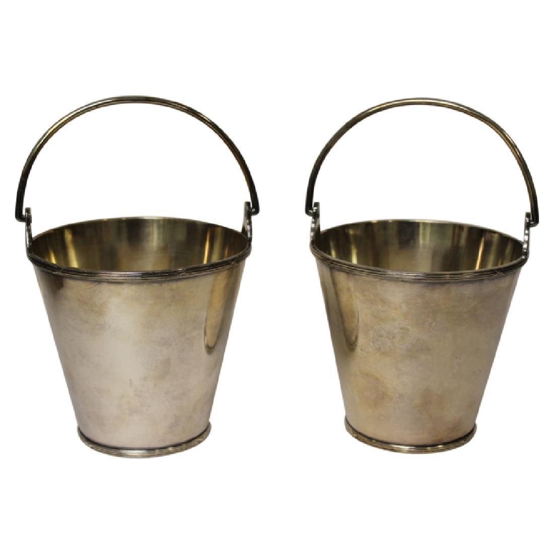 2 Elkington Silverplate Buckets