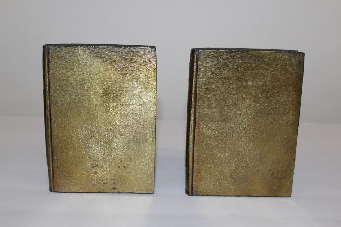 Pair of Bronze Cherub Bookends - 2