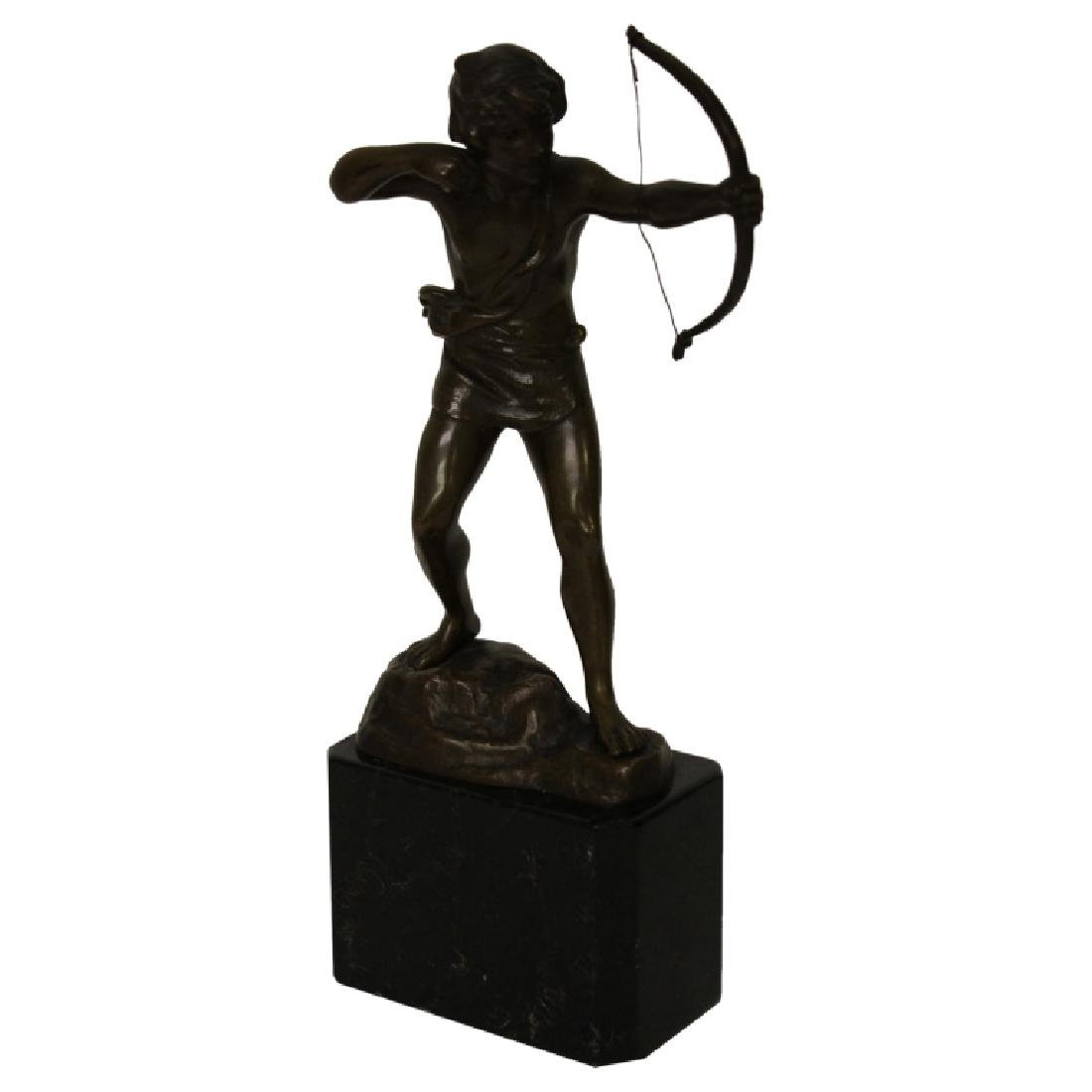Bronze Figure on Marble Base