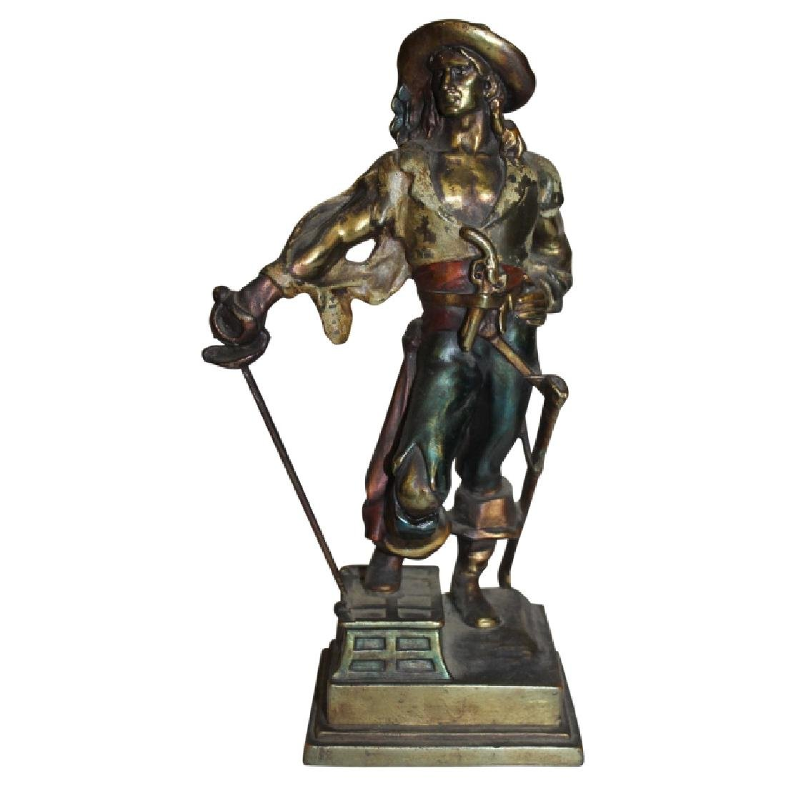 Bronze Pirate Figure
