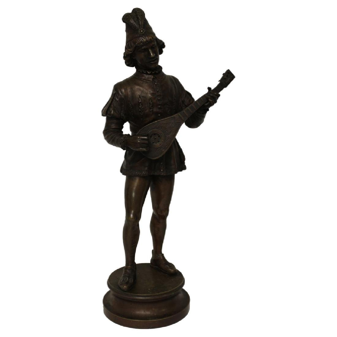 Large Louis XV Bronze Jester