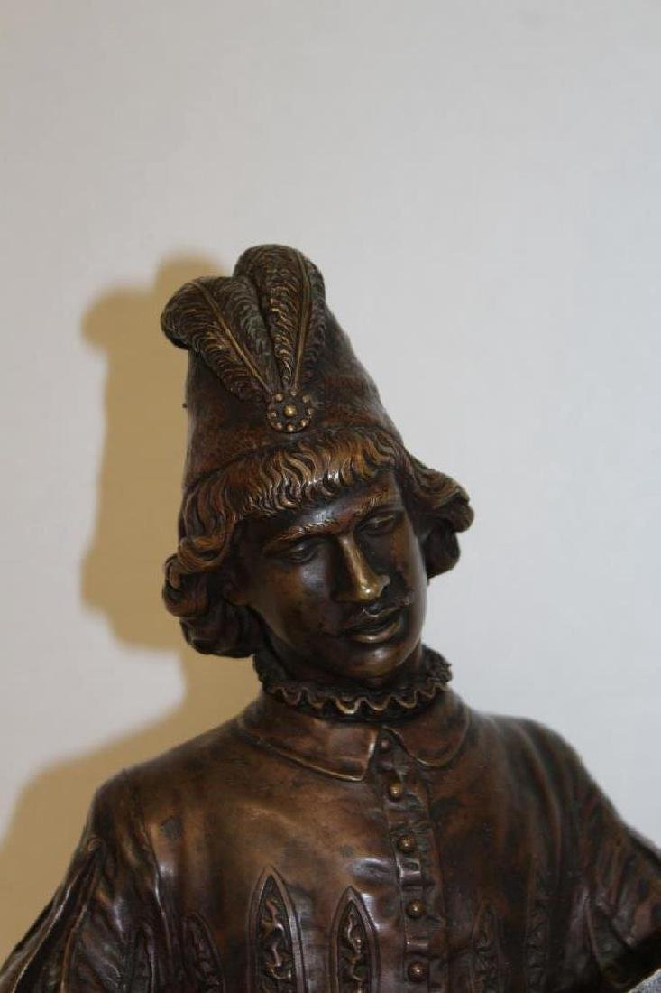 Large Louis XV Bronze Jester - 3
