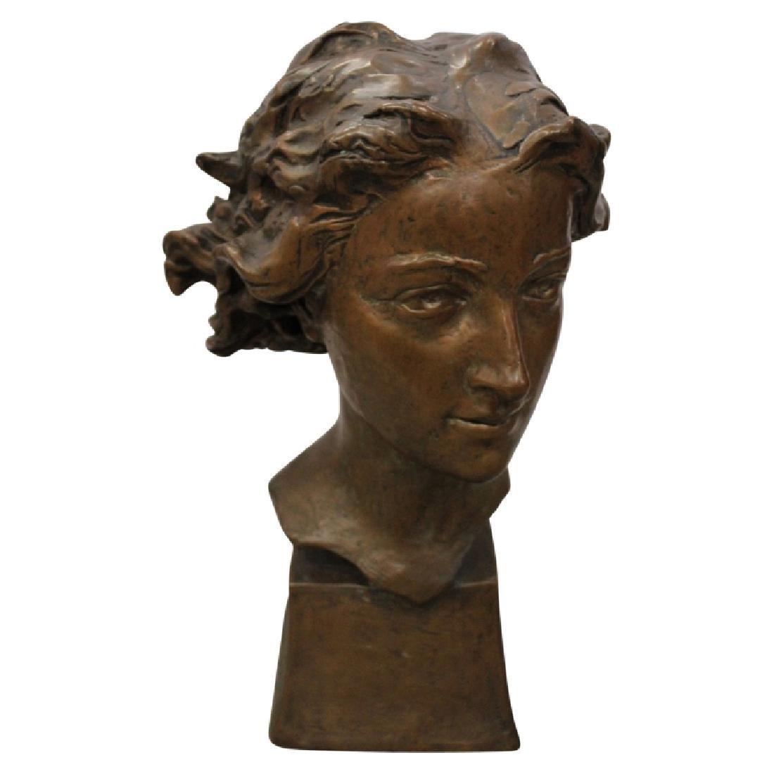 """Pompcian"" Bronze Bust"