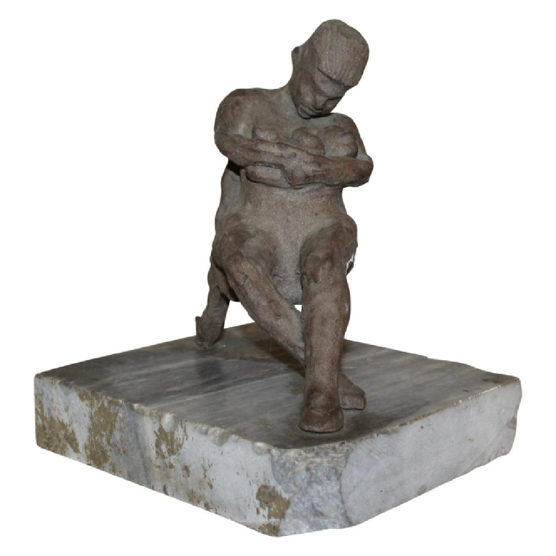 Woman Nursing Pottery Sculpture