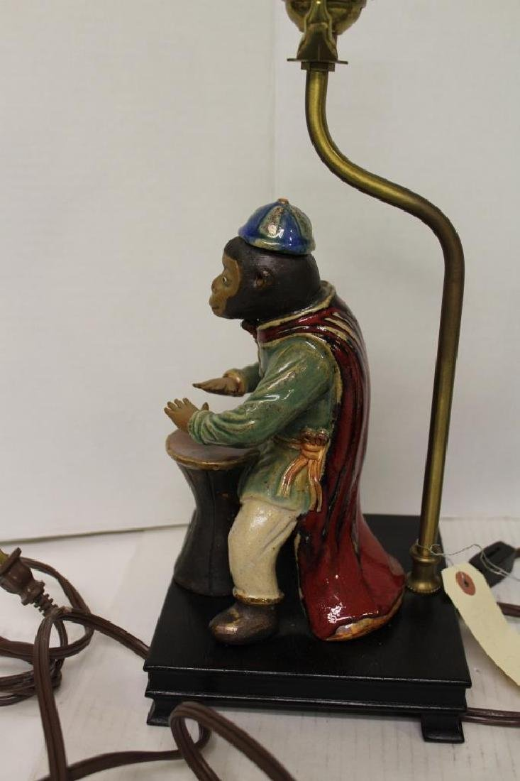 Pair of Chinoiserie Faience Monkey Light Fixtures - 6