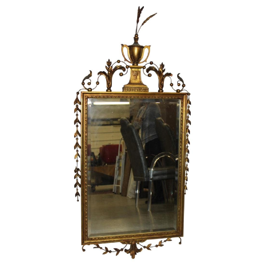Heppelwhite Style Gold Gilt Mirror