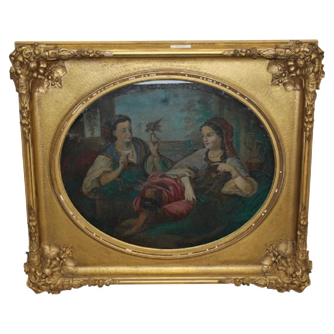 Gold Gilt Period Frame with Tin Artwork