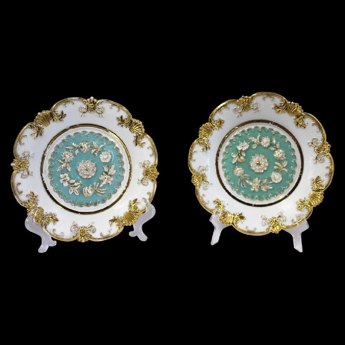 Pair of Meissen Baroque Style Plates