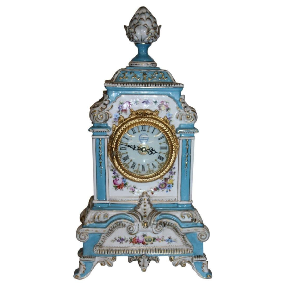 King Arm Collection Meissen Style Clock