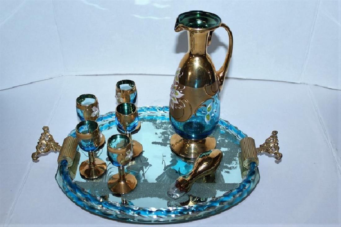 Murano Glass Bar Decanter Set