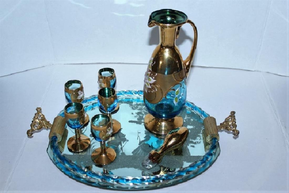 Murano Glass Bar Decanter Set