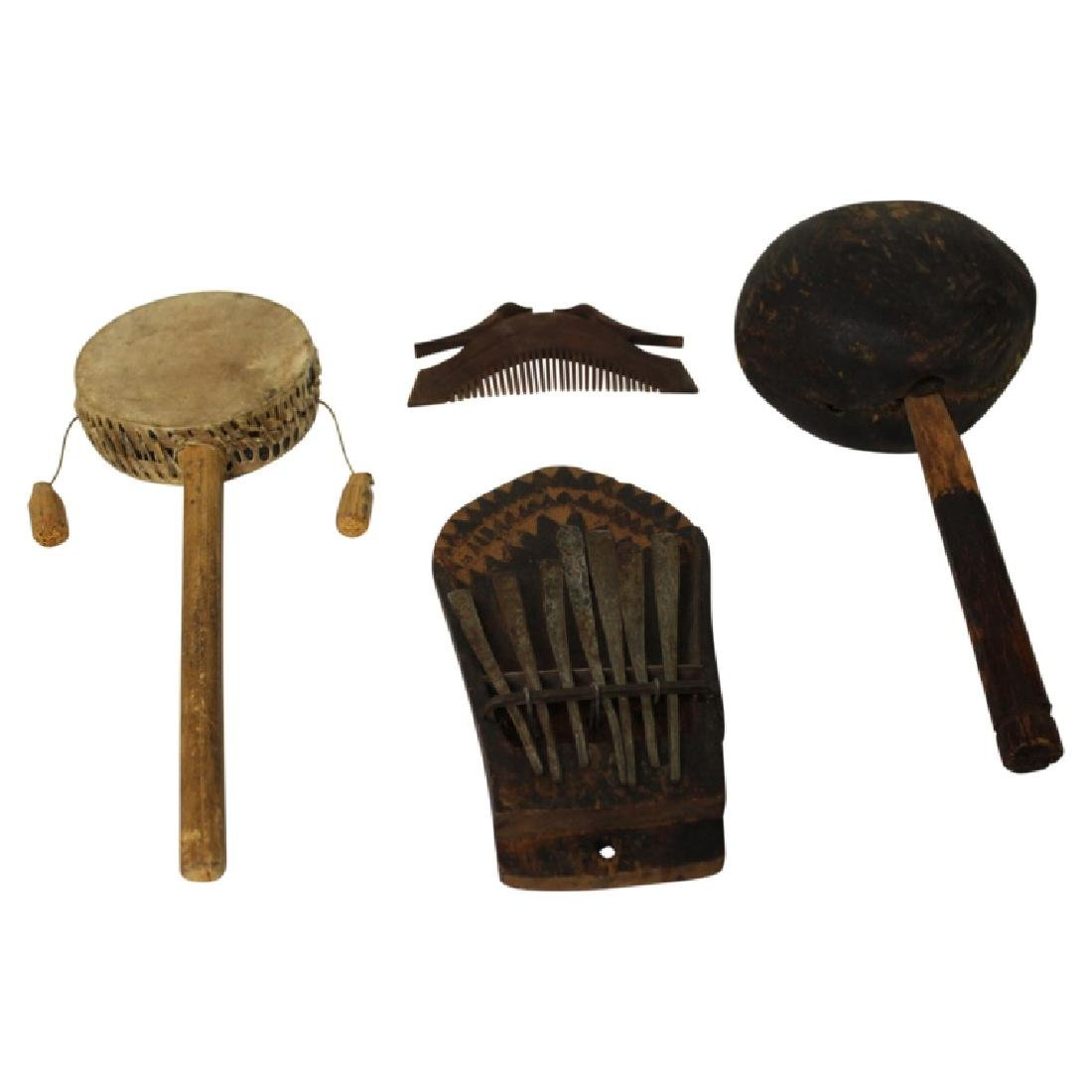 Antique Native American Instrument Lot