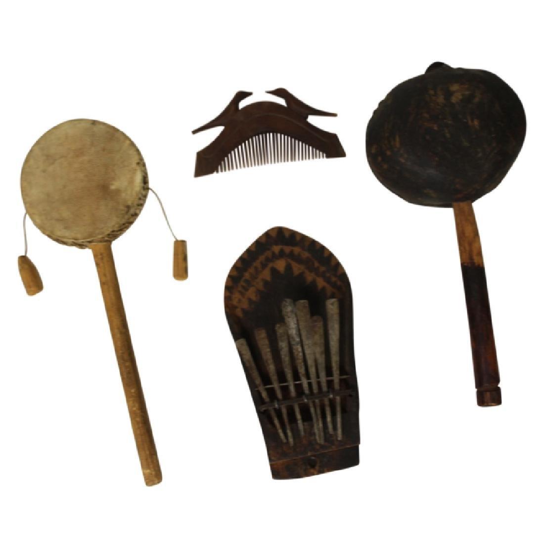 Antique Native American Instrument Lot - 3