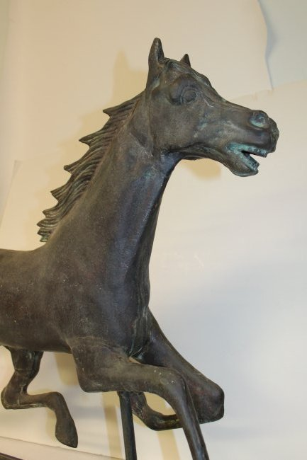Horse Weather Vane on Metal Stand - 2