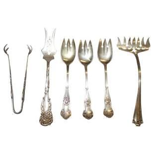 5 Sterling Silver Fancy Forks