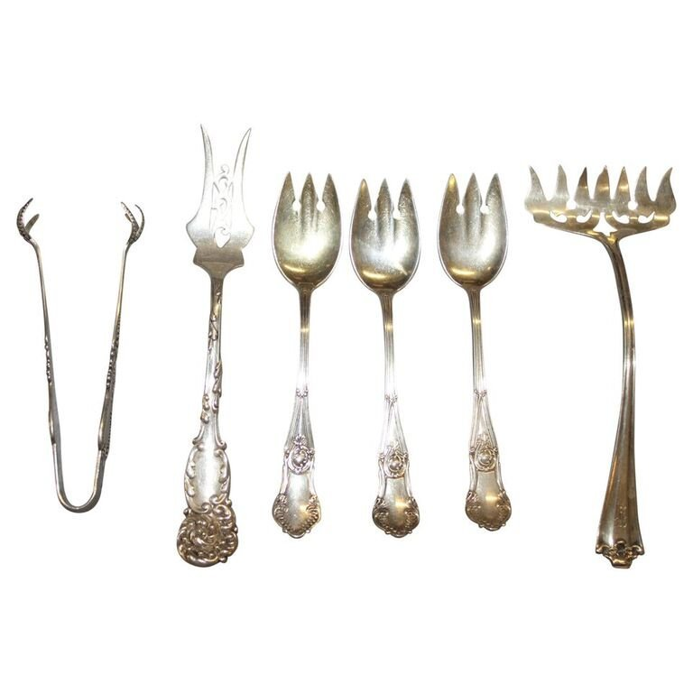 5 Sterling Silver Fancy Forks