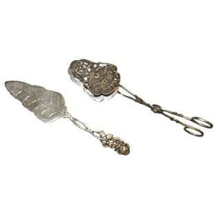 2 Sterling Cake Scissors