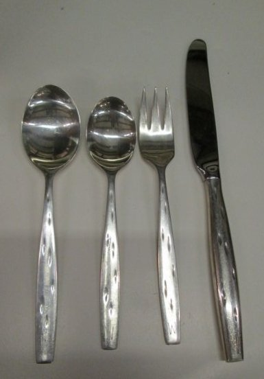 MCM Wallace Sterling Flatware for 12 Raymond Loewy - 3