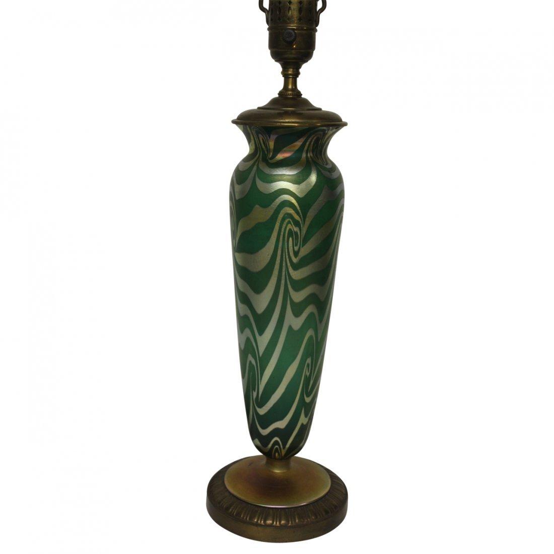 Durand Green Iridescent Lamp