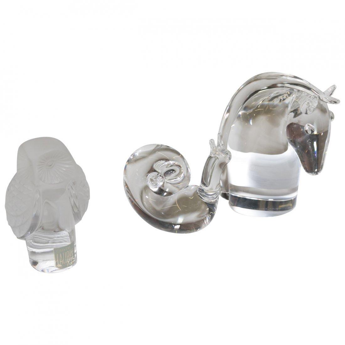Steuben & Lalique Glass Animals