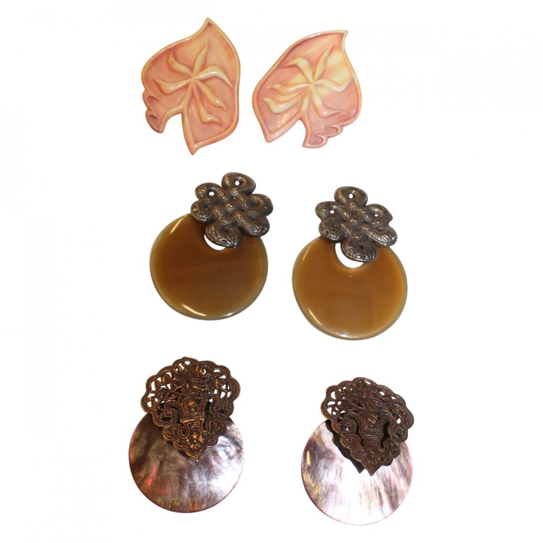 3 Pairs of Stephen Dweck Earrings