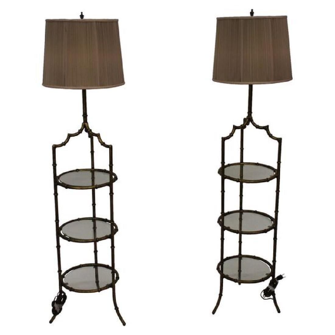 Mid Century Hollywood Regency Floor Lamps