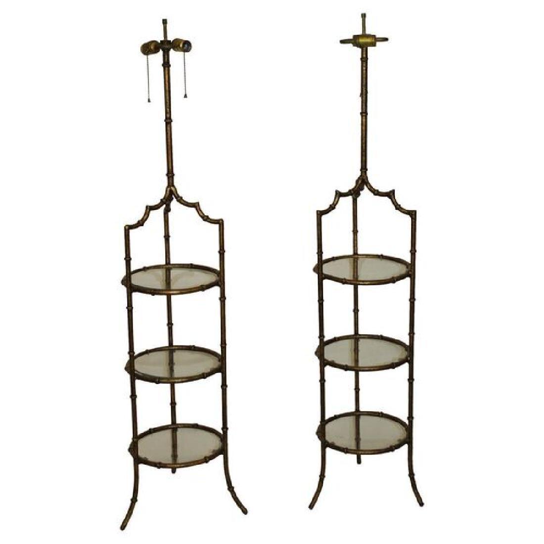 Mid Century Hollywood Regency Floor Lamps - 4