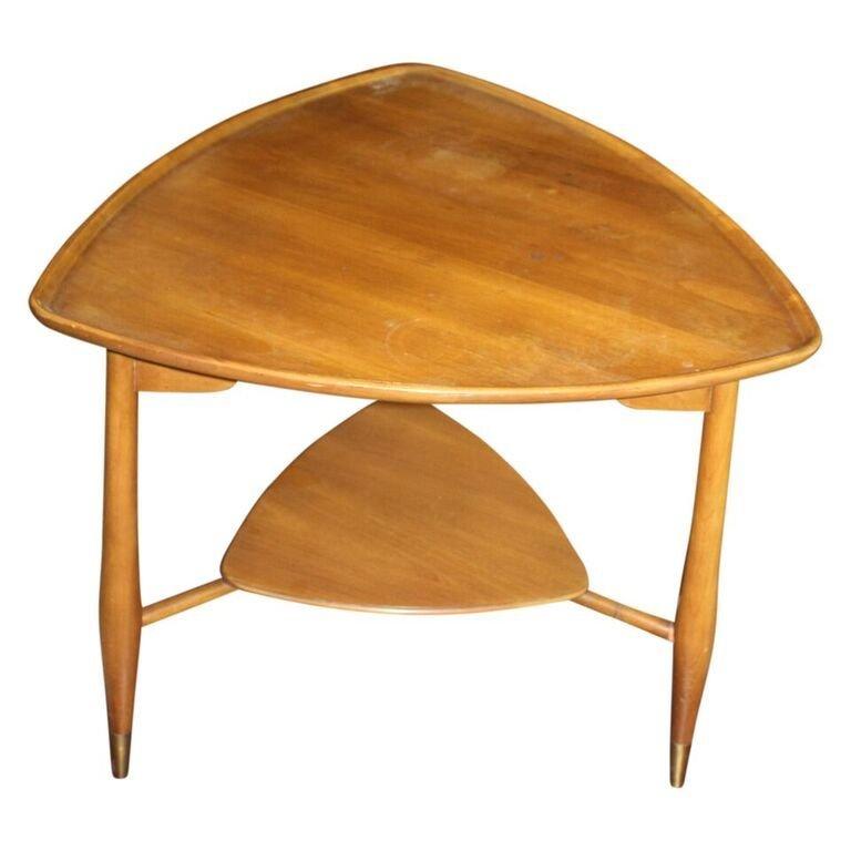John Widdicomb Triangle Dish Top Table