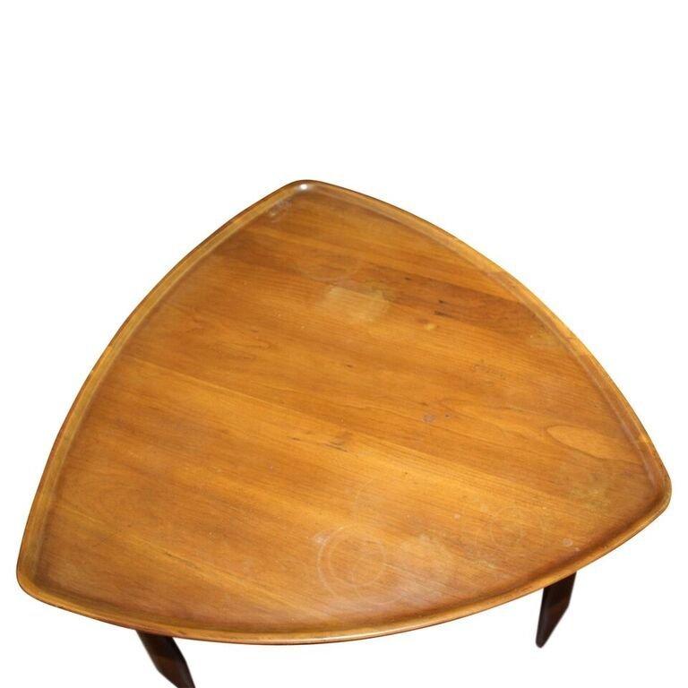 John Widdicomb Triangle Dish Top Table - 2
