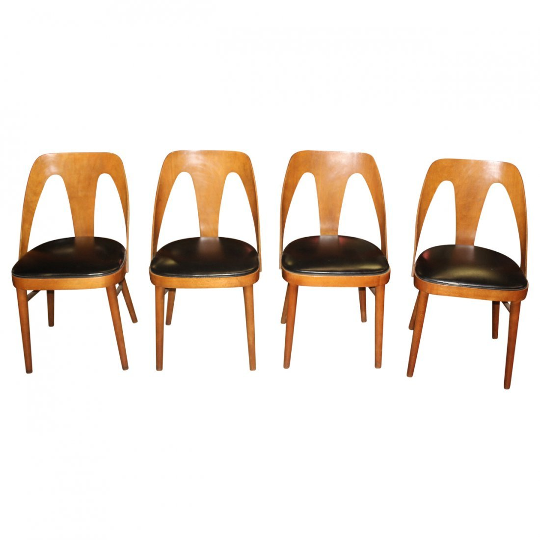 4 MCM Chairs Attributed to Lawrence Peabody