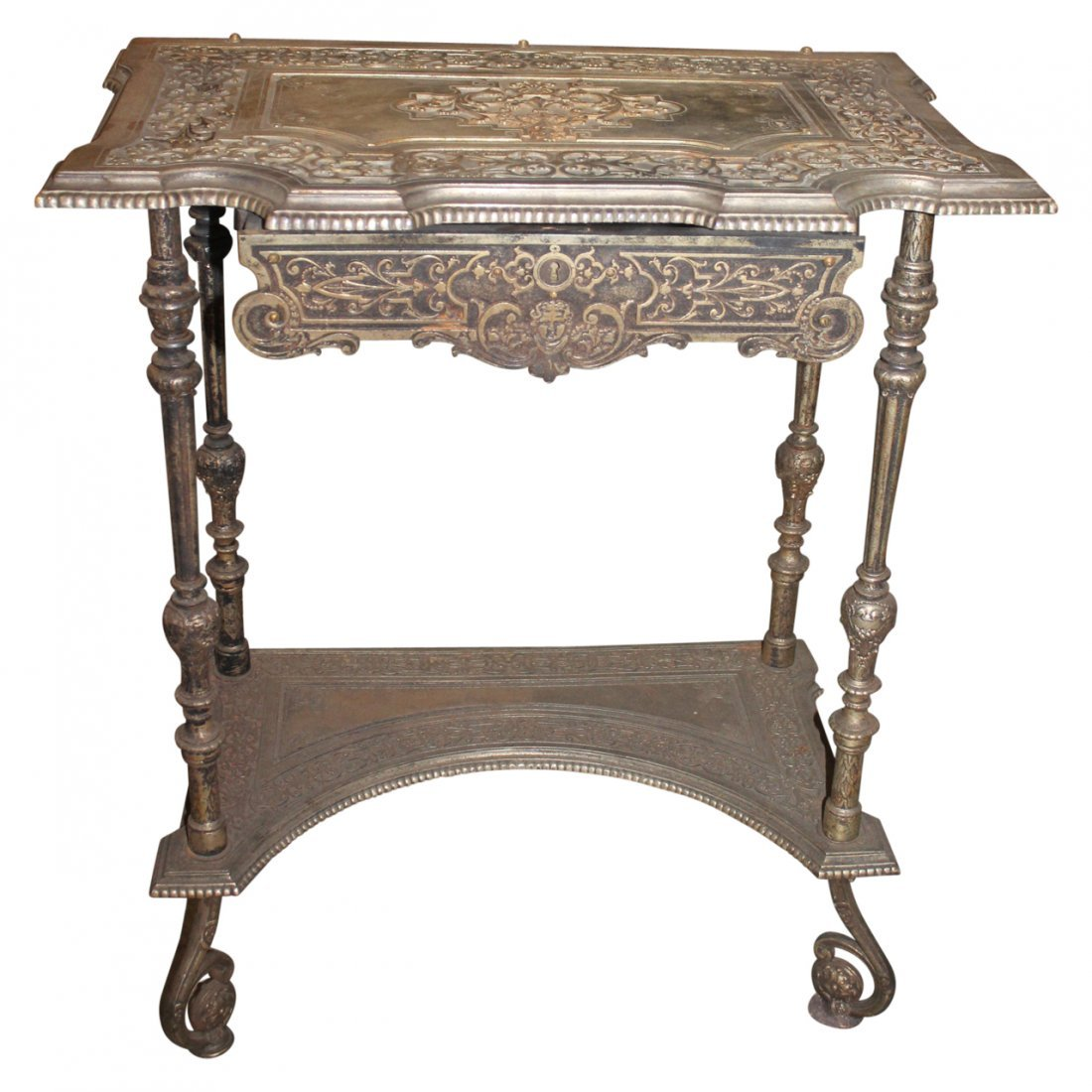Antique Bronze or Brass Table