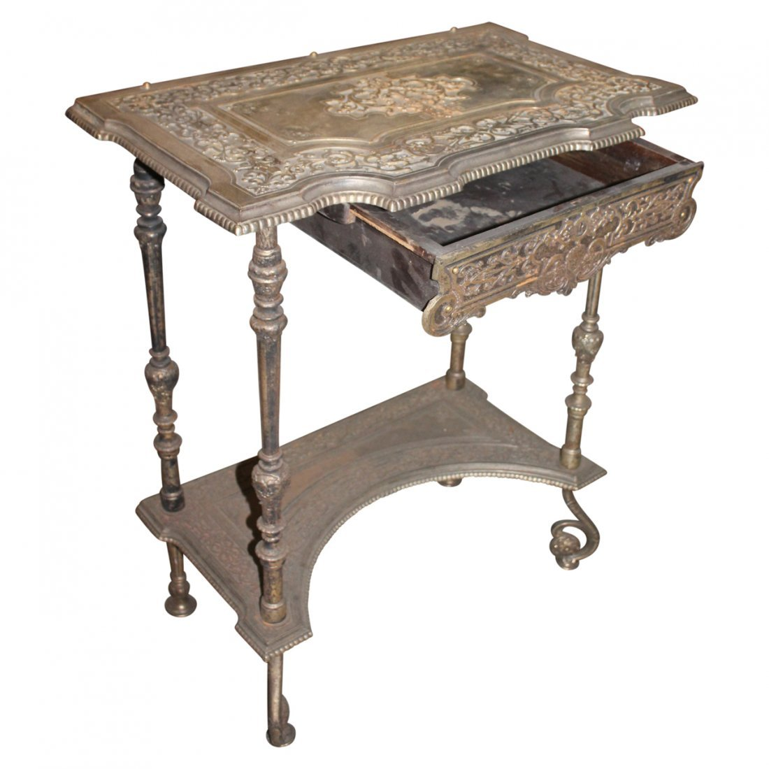 Antique Bronze or Brass Table - 2