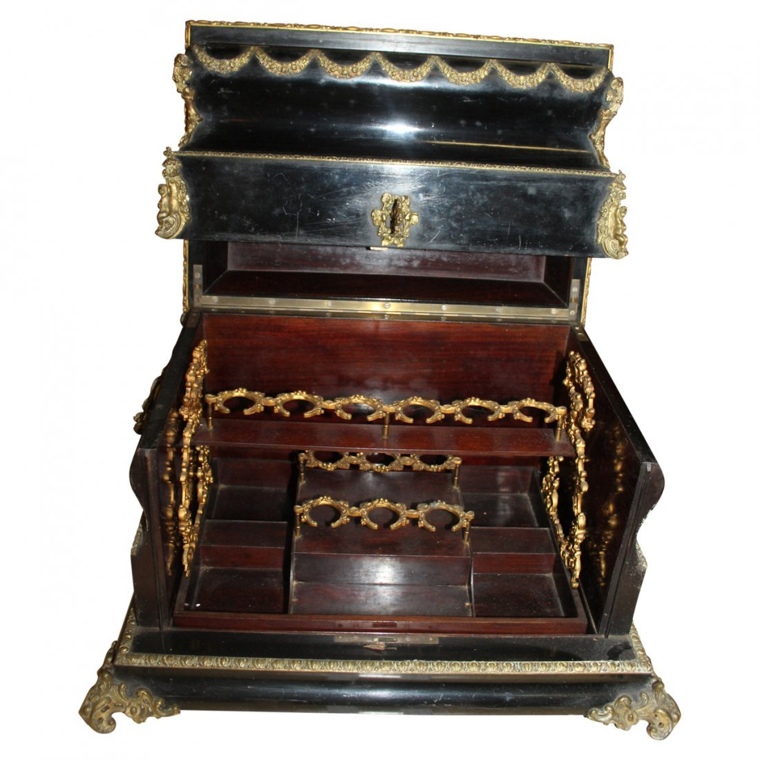Antique French Hardstone Liquor Casket - 2