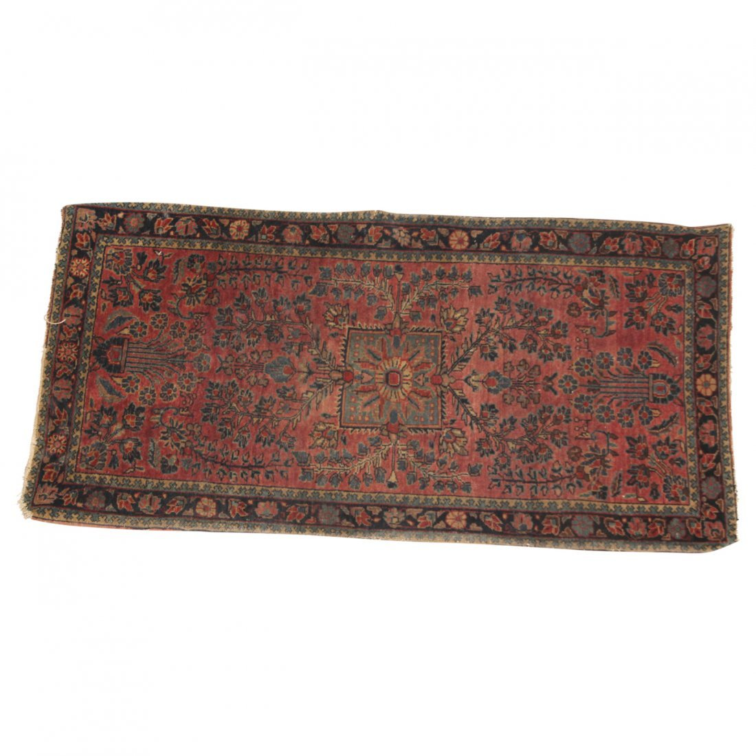 Pair of Sarouk Old Throw Rugs