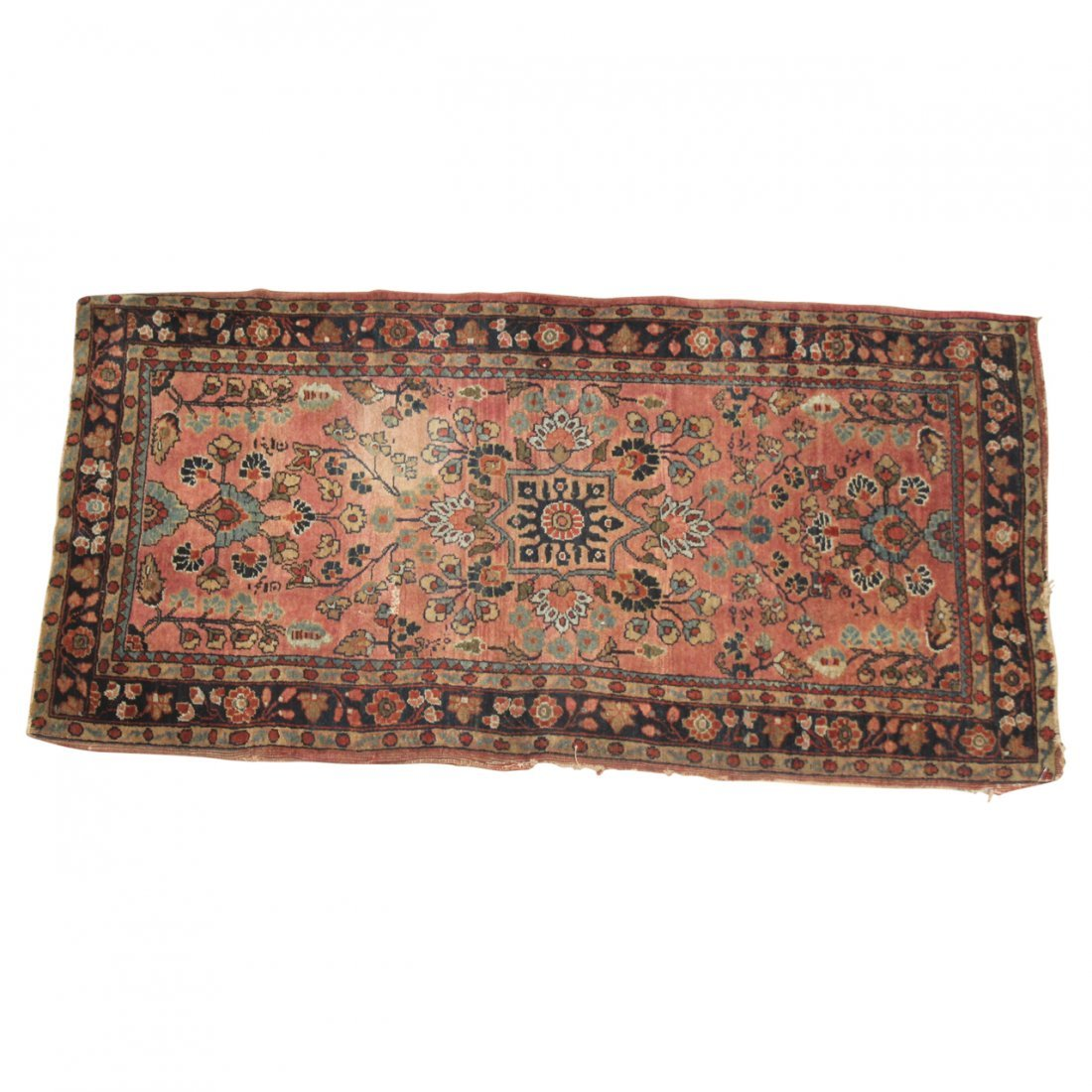 Pair of Sarouk Old Throw Rugs - 2