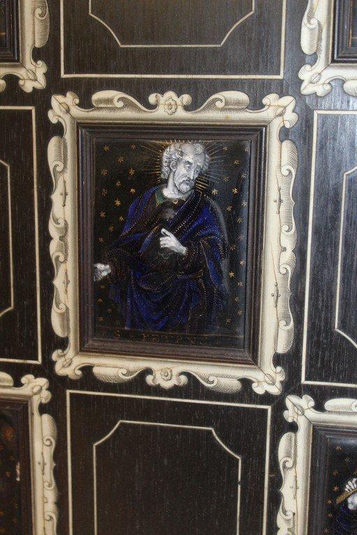 Rare Pair of G.B. Gatti Wood & Porcelain Plaques - 5