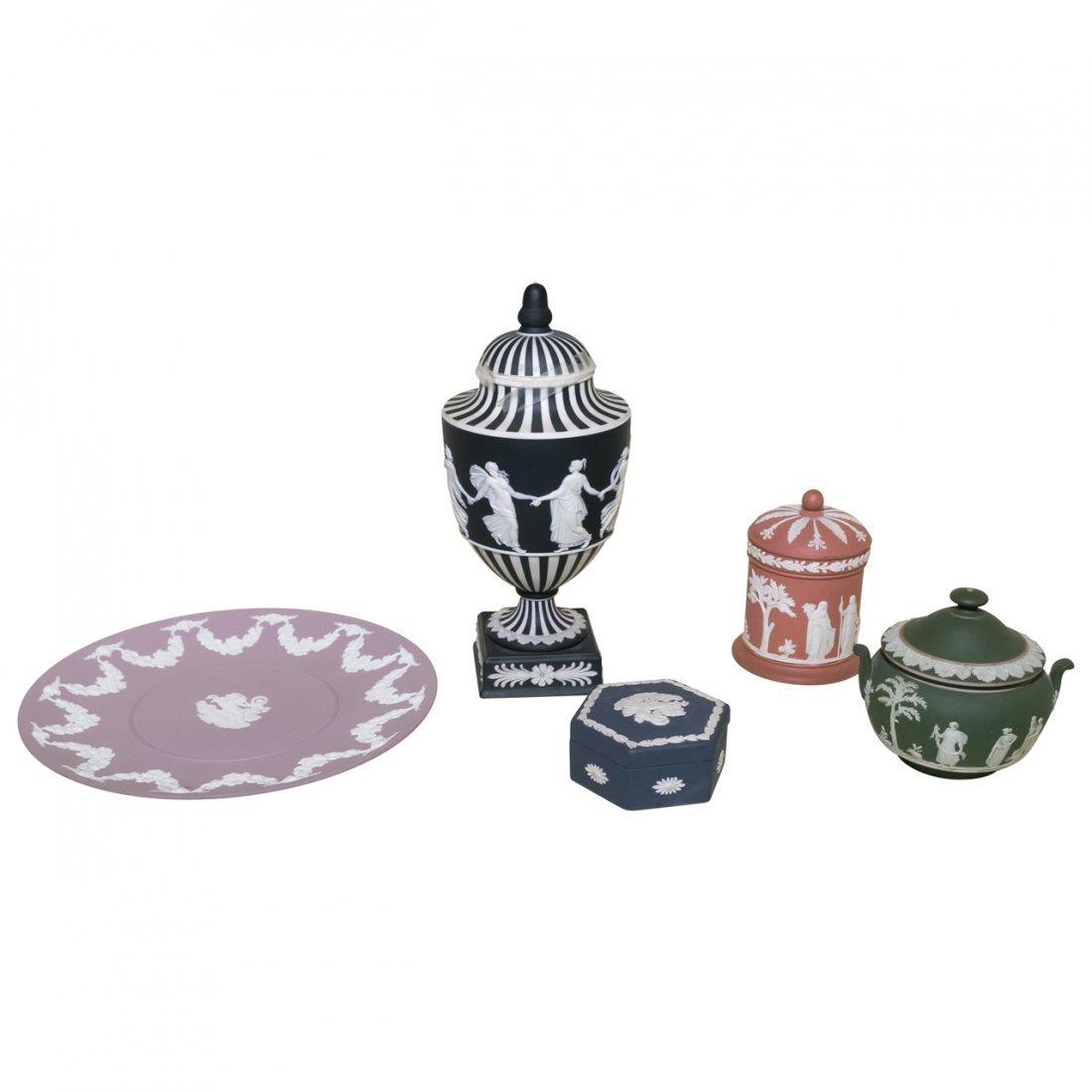 5 Pcs Antique Wedgwood Jasperware