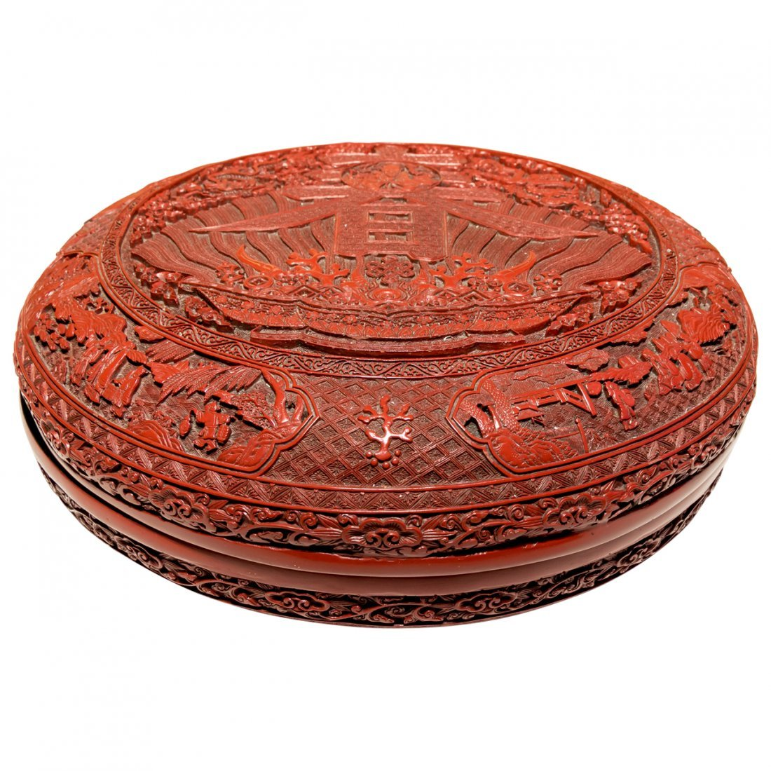 Massive Chinese Antique Cinnabar Wedding Box - 2