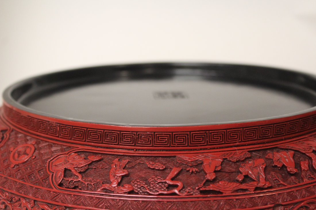 Massive Chinese Antique Cinnabar Wedding Box - 4