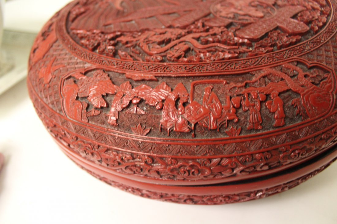 Massive Chinese Antique Cinnabar Wedding Box - 5