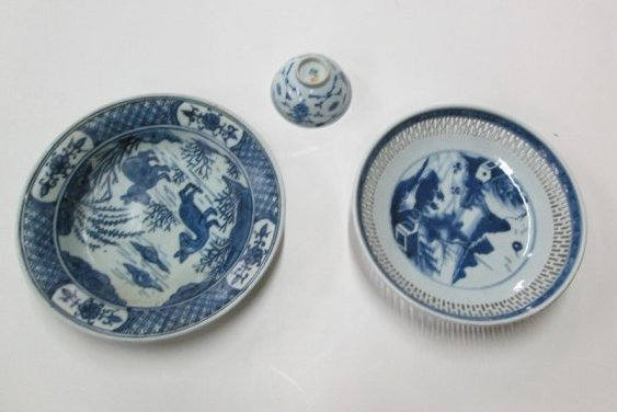 3 Pcs Antique Chinese Porcelain
