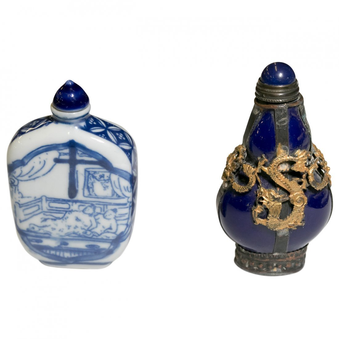 3 Antique Chinese Snuff Bottles - 4