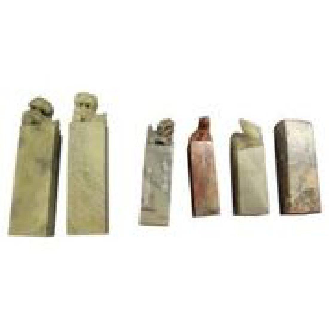 6 Chinese Jade & Stone Seals